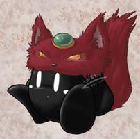 Giftart: Wolf4Knowledge by shadowkitsunekirby