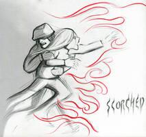 03 Scorched #Inktober by SquirrelHsieh