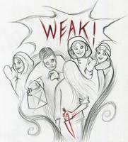 07 Weak #Inktober by SquirrelHsieh