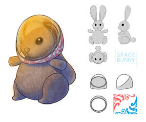 Space Bunny: Concept Art Study by SquirrelHsieh