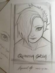 Pencil Sketch: Quantina Grim, the Necromancer