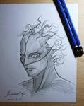 Random Drawing: Fallen Hero