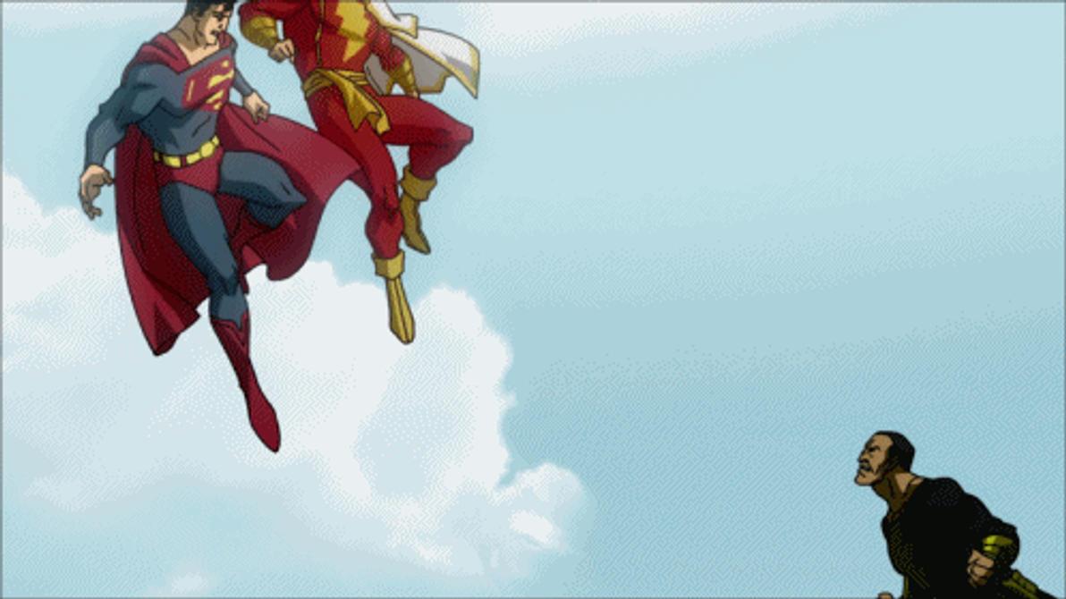 Black Adam VS Captain Marvel And Superman By Tsotne Senpai On DeviantArt