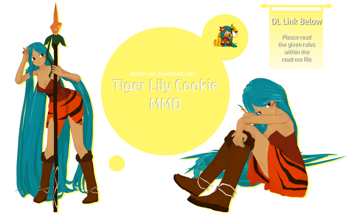 Cookie Run MMD - Tiger Lily Cookie - DL - Update by queen-val
