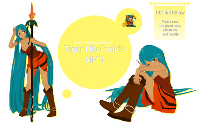 Cookie Run MMD - Tiger Lily Cookie - DL - Update 2 by queen-val