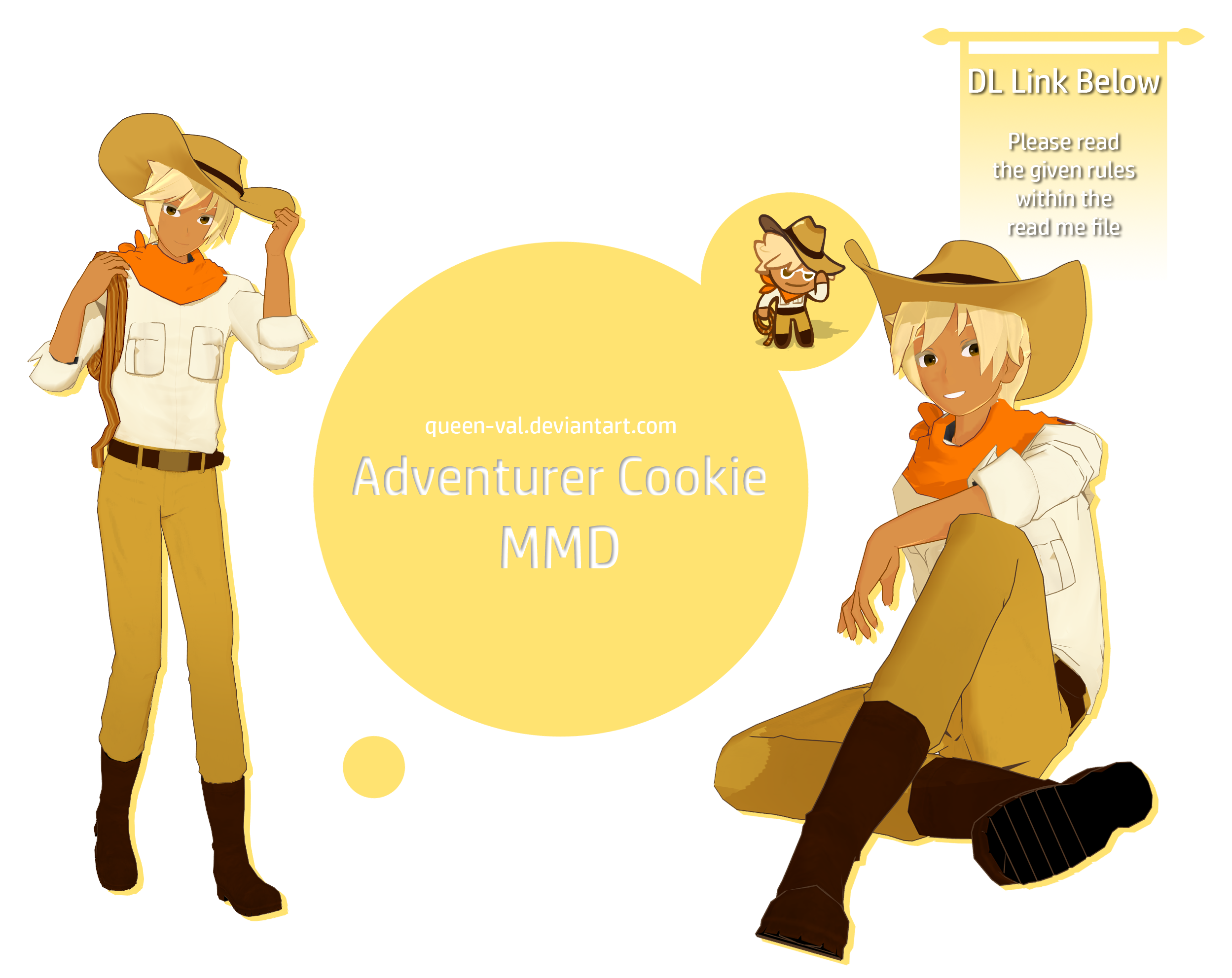 Cookie Run MMD - Adventurer Cookie - DL - Update by queen-val