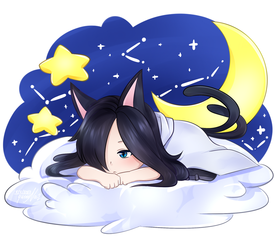 Art Trade - Haruka - On the Clouds by queen-val