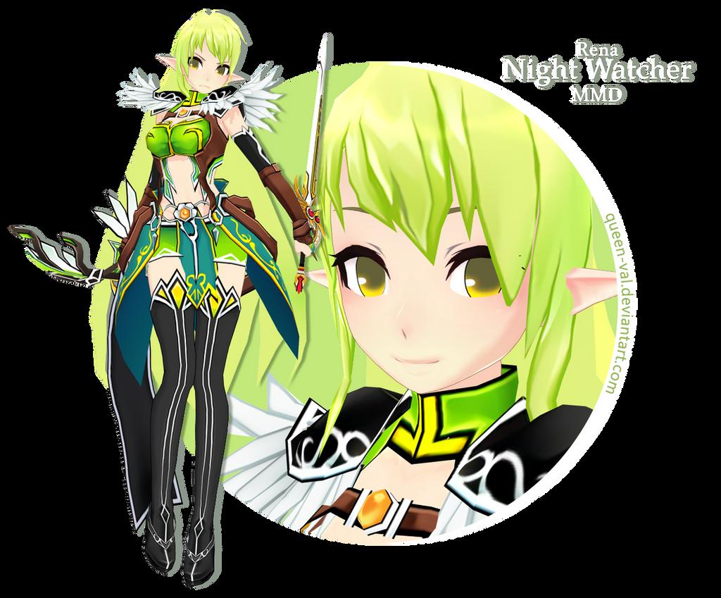 Elsword MMD - Rena - Night Watcher DL by queen-val