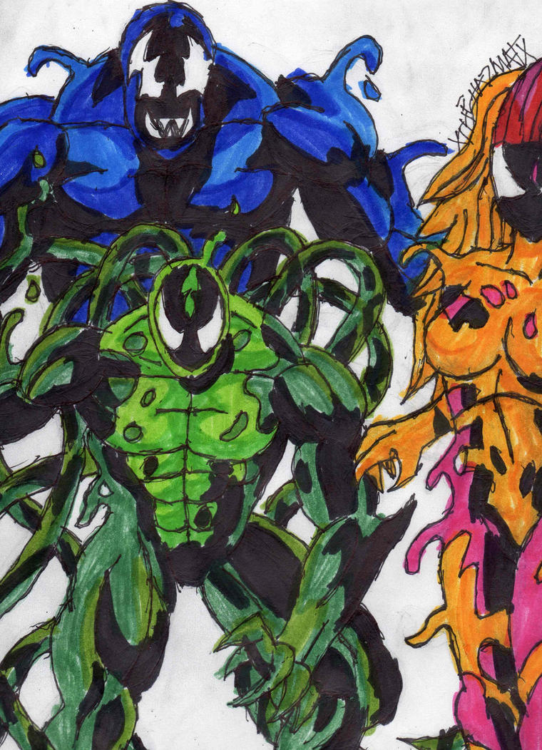 Three Symbiotes by ChahlesXavier on DeviantArt