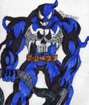 Punisher Venom smirking