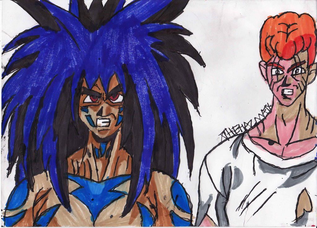 Demon yusuke and kuwabara by chahlesxavier on deviantart for Yusuke demon