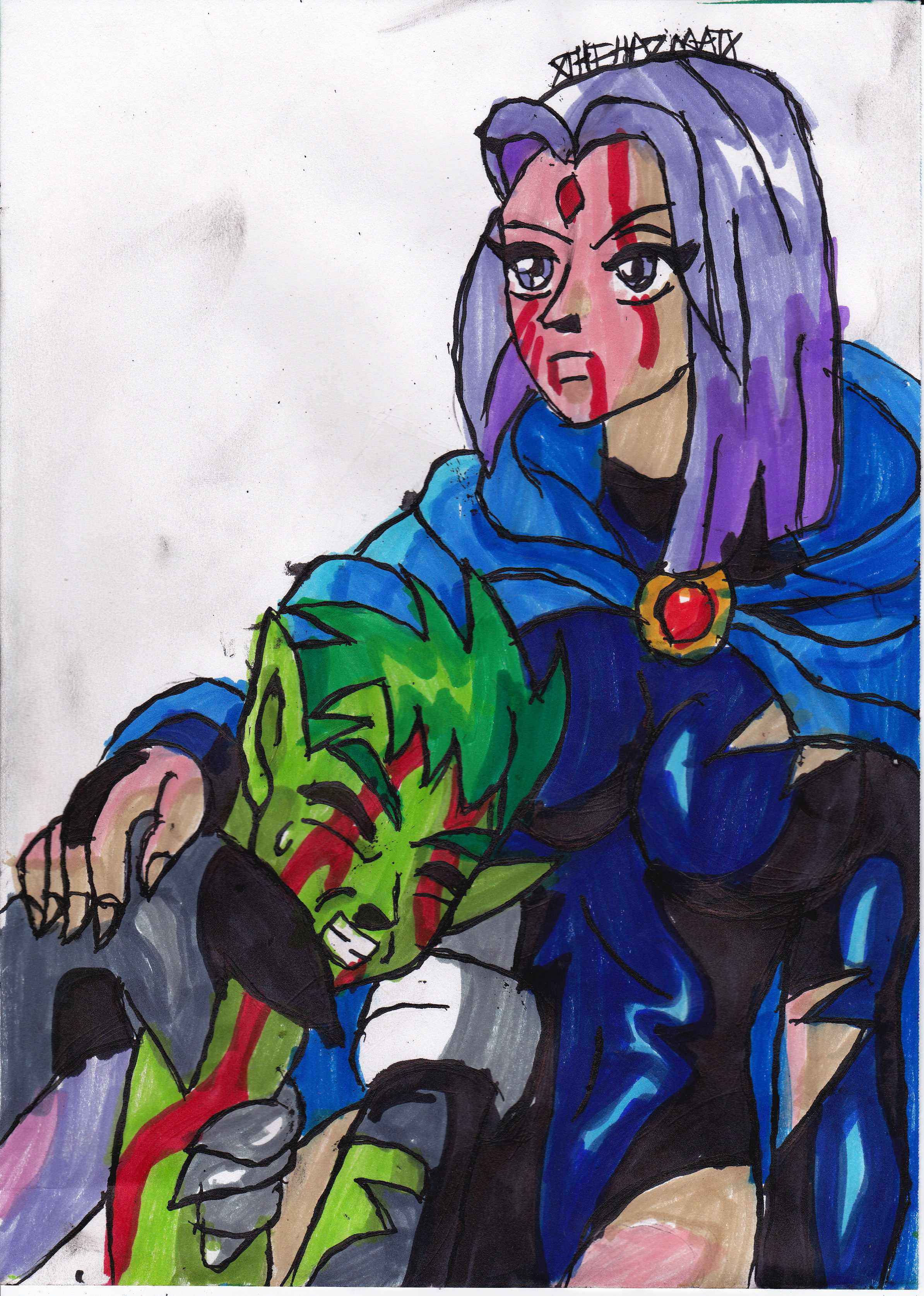 Raven Superhero And Beast Boy Raven And Beast Boy by