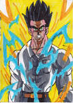 Mystic Gohan powering up by ChahlesXavier
