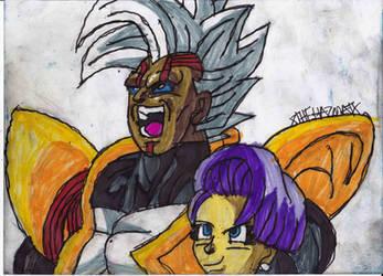 Super Bebi and Bulma by ChahlesXavier