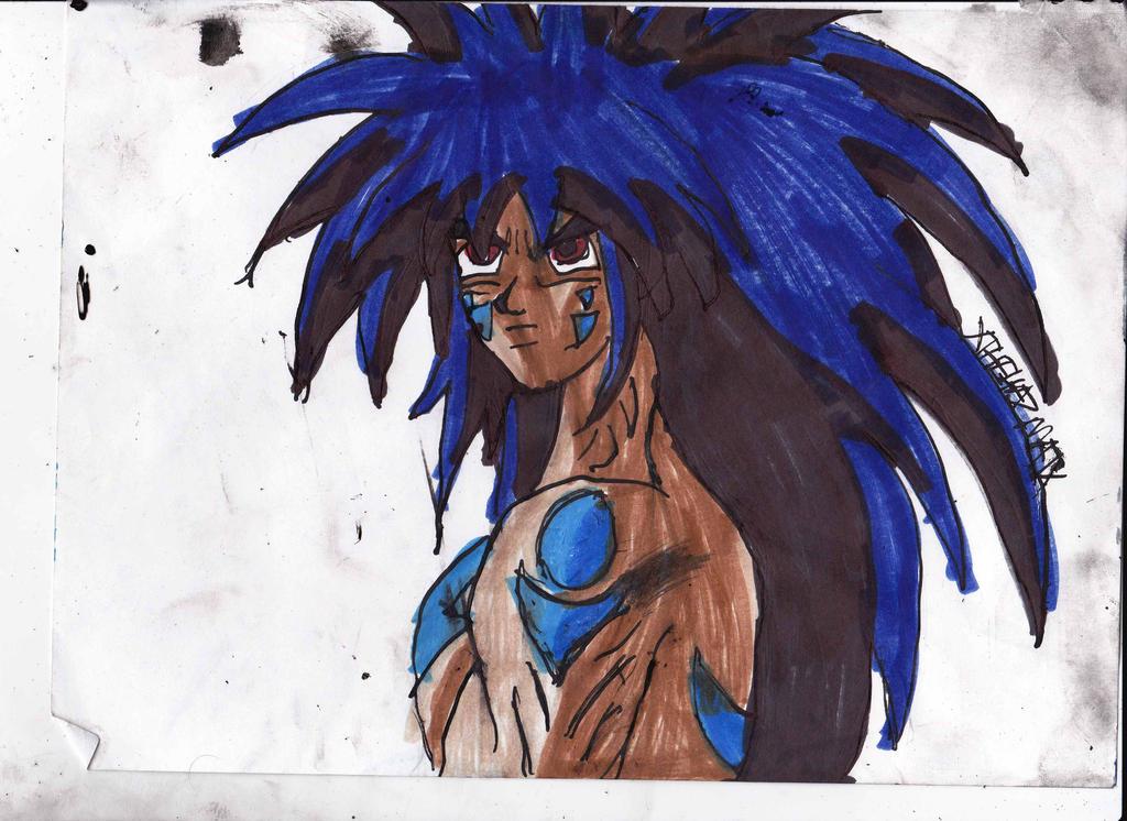 Serious demon yusuke by chahlesxavier on deviantart for Yusuke demon