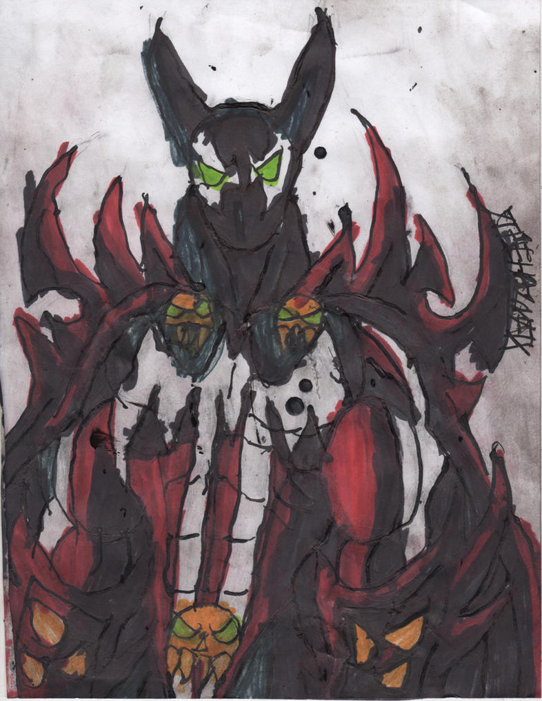 Hellspawn Batman by ChahlesXavier