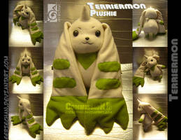 Terriermon Plushie Commission by eERIechan