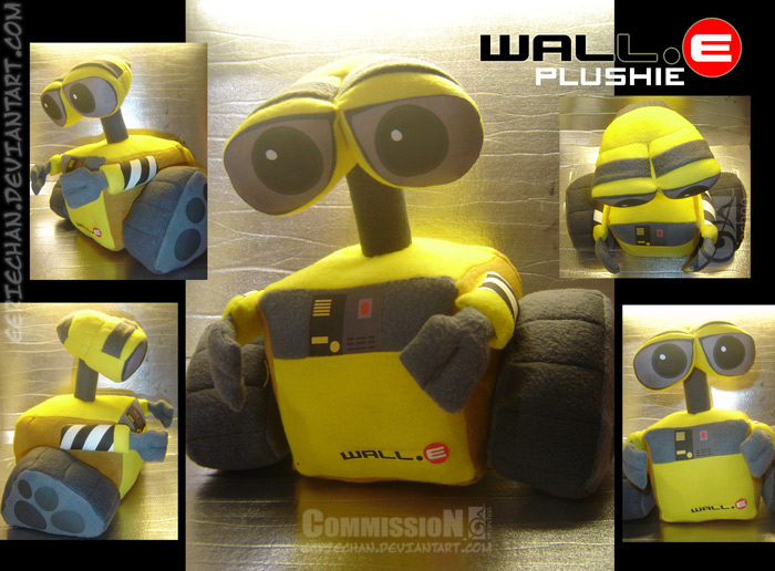 Wall-E Plush Commission by eERIechan