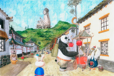 Panda Kung-Fu Fanart