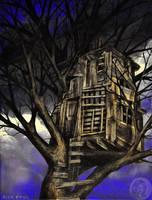 Haunted tree fort by NickMears