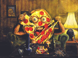 iwrestledapizza by NickMears