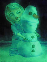 Elsa from Disney's Frozen- glow in the dark by NickMears