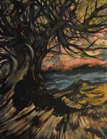 Lake of desire beyond the trees by NickMears