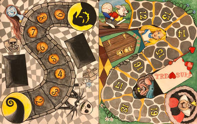 Munchkin game boards.