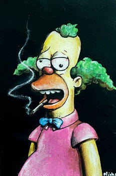 Crusty the Clown from Simpsons