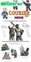 the lone wanderer vs courier 6 meme