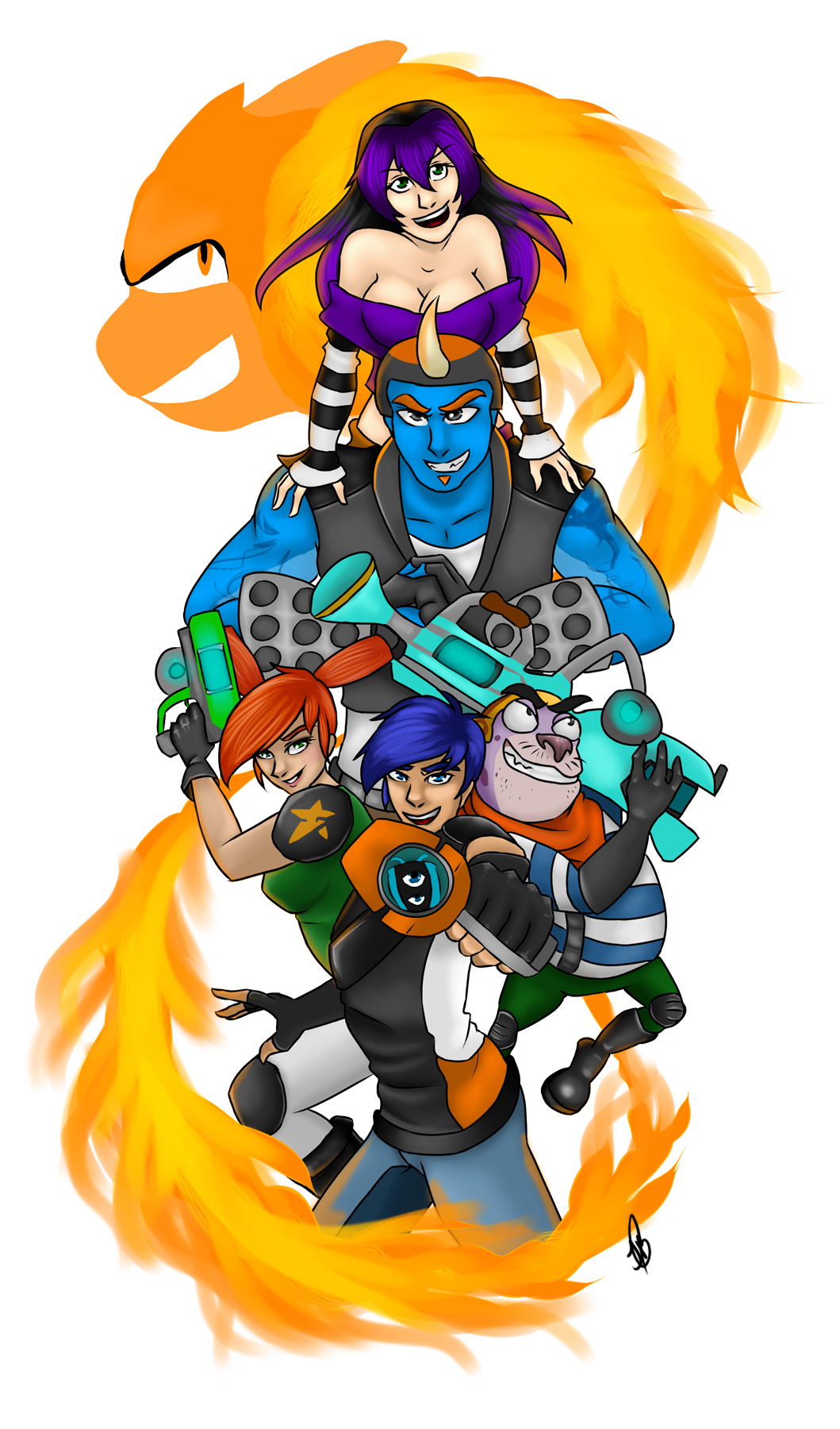 Heroes of Slugterra by Jadeykinns