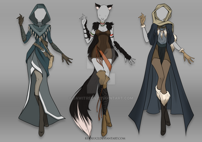 (CLOSED) Adoptable Outfit Auction 34-36 by JawitReen