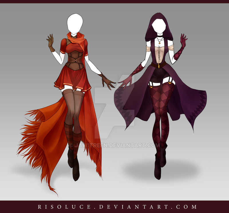 (CLOSED) Adoptable Outfit Auction 130-131 by JawitReen on DeviantArt