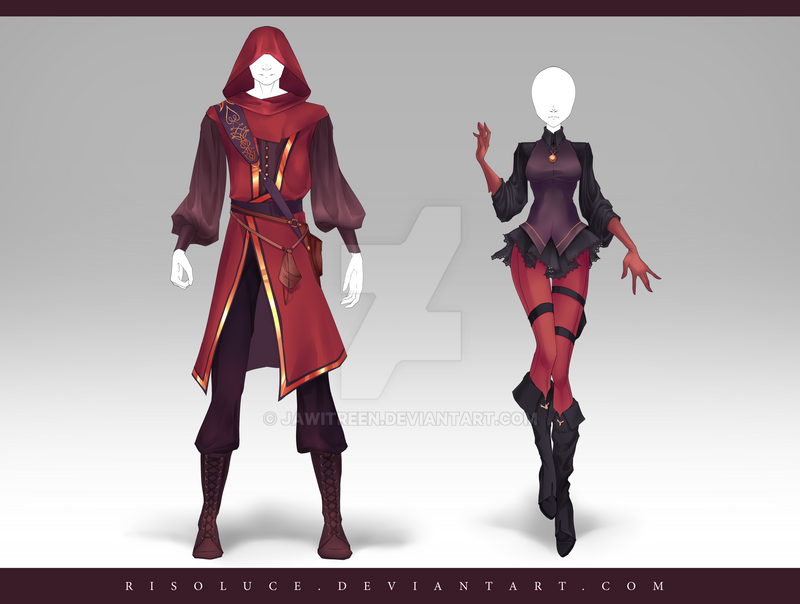 + Organisations _closed__adoptable_outfit_auction_185___186_by_risoluce-d9wyi7g
