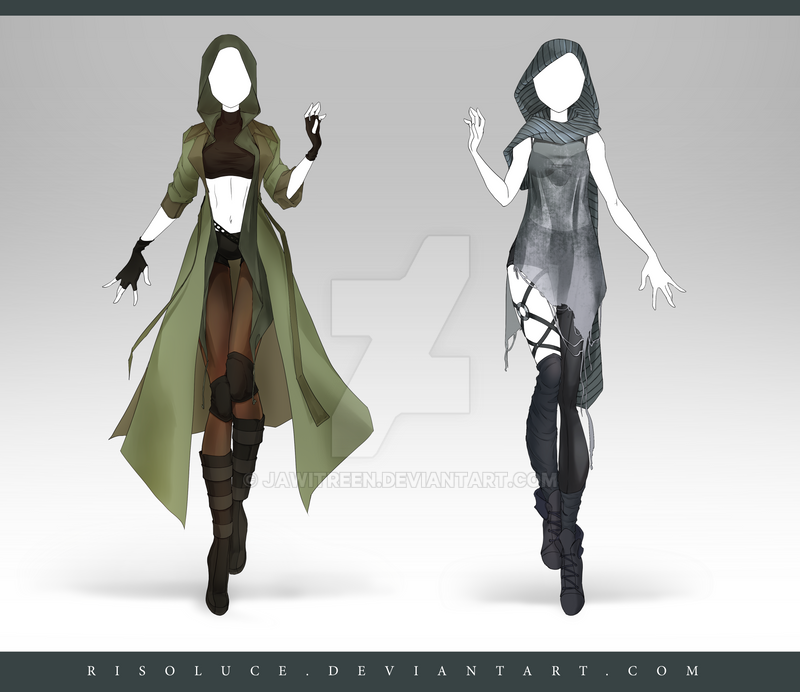 (CLOSED) Adoptable Outfit Auction 189 - 190 by JawitReen
