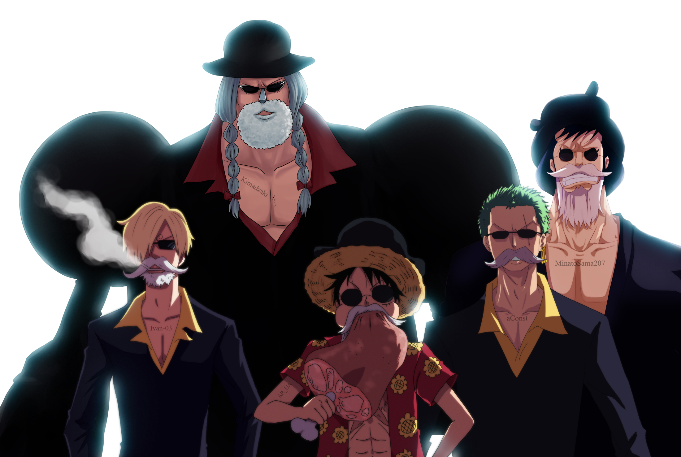 Bearded One Piece Collab by AR-UA