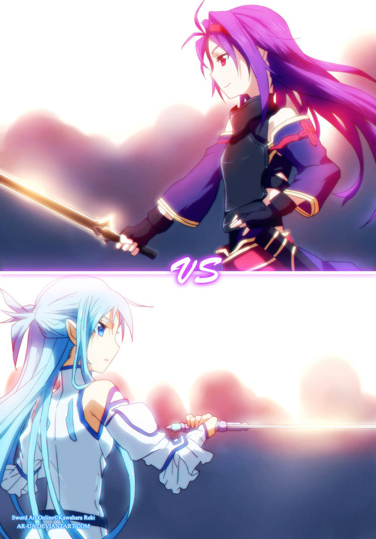 spoiler!SAO volume 7: Yuuki vs Asuna by AR-UA