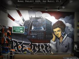 Axe Music Mural by nedashi