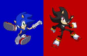 Sonic And Shadow SSF2 Pixelart