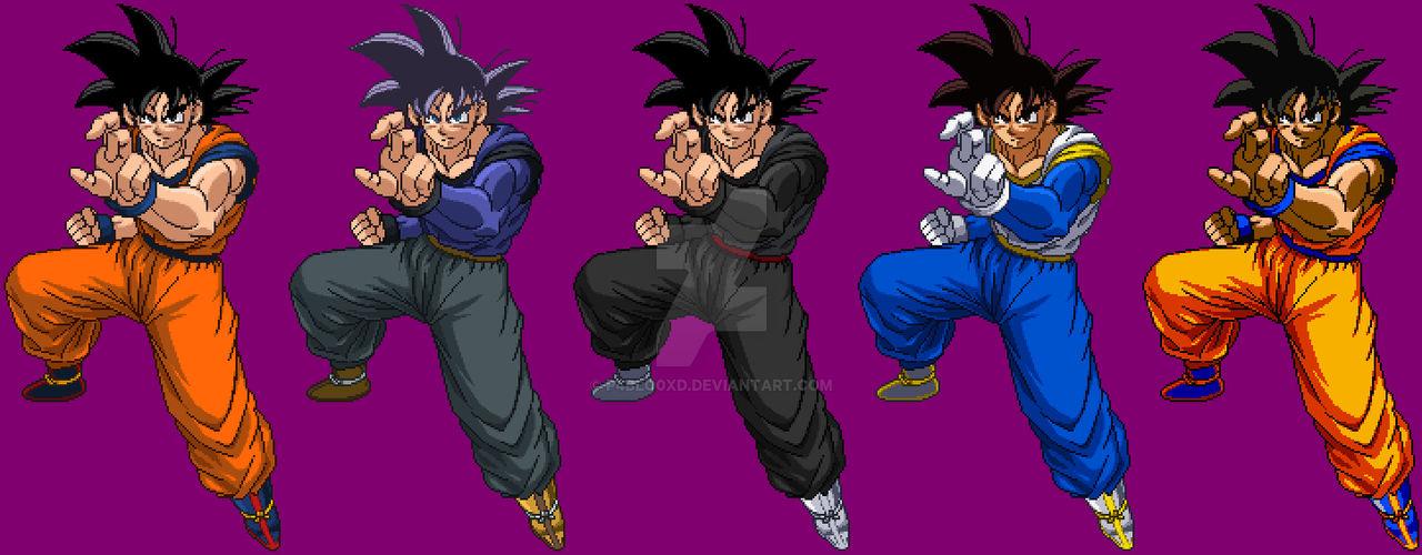 Goku Pixelart SSF2 + Costumes