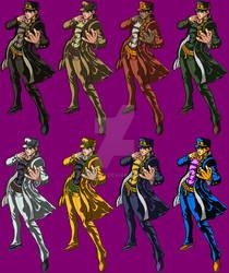 Jotaro Pixelart SSF2 + Costumes