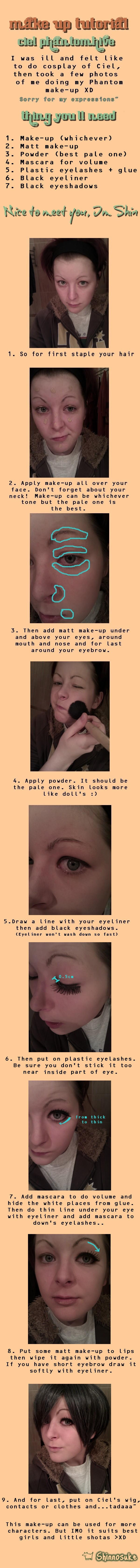 Ciel Phantomhive make-up by SmilingBlackFox