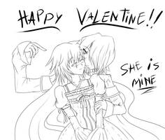 Happy Valentine :D! (Lineart)