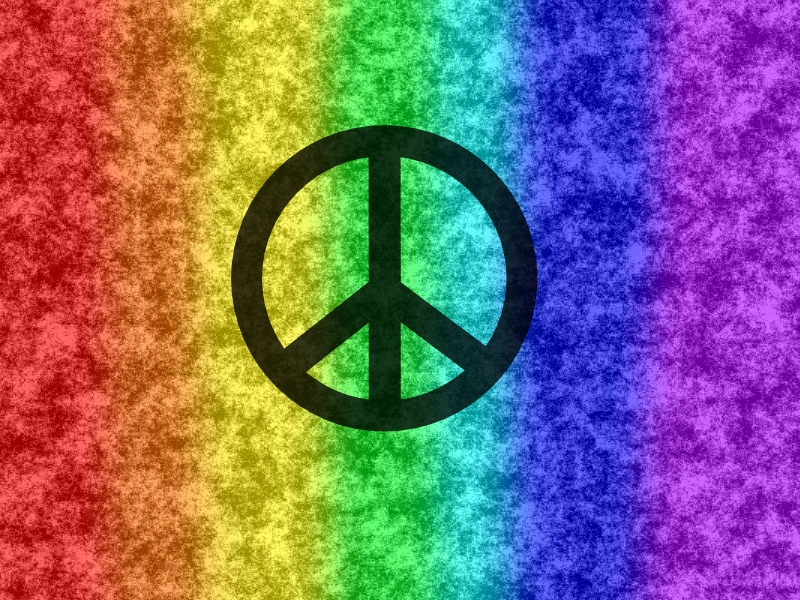 Rainbow Peace Wallpaper By 1gaaragirl On Deviantart