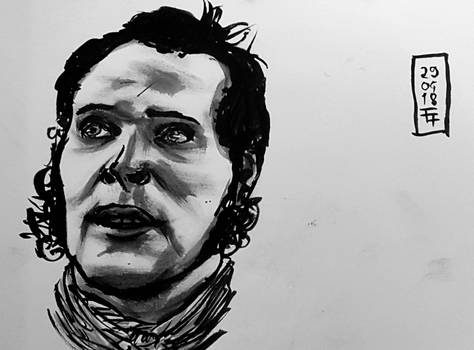 daily ink #19 Stephen Maturin (by Paul Bettany)