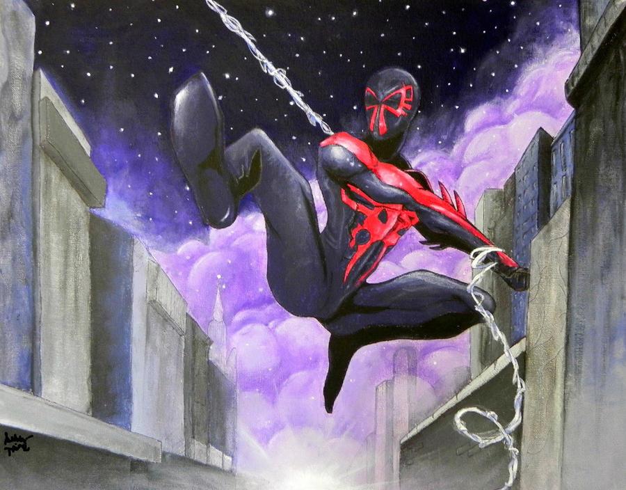 Spider-Man 2099 Painting By CrimsonVip3r On DeviantArt