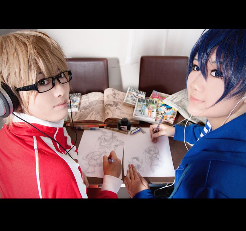 bakuman_saiko_and_shyujin_by_vicissijuic