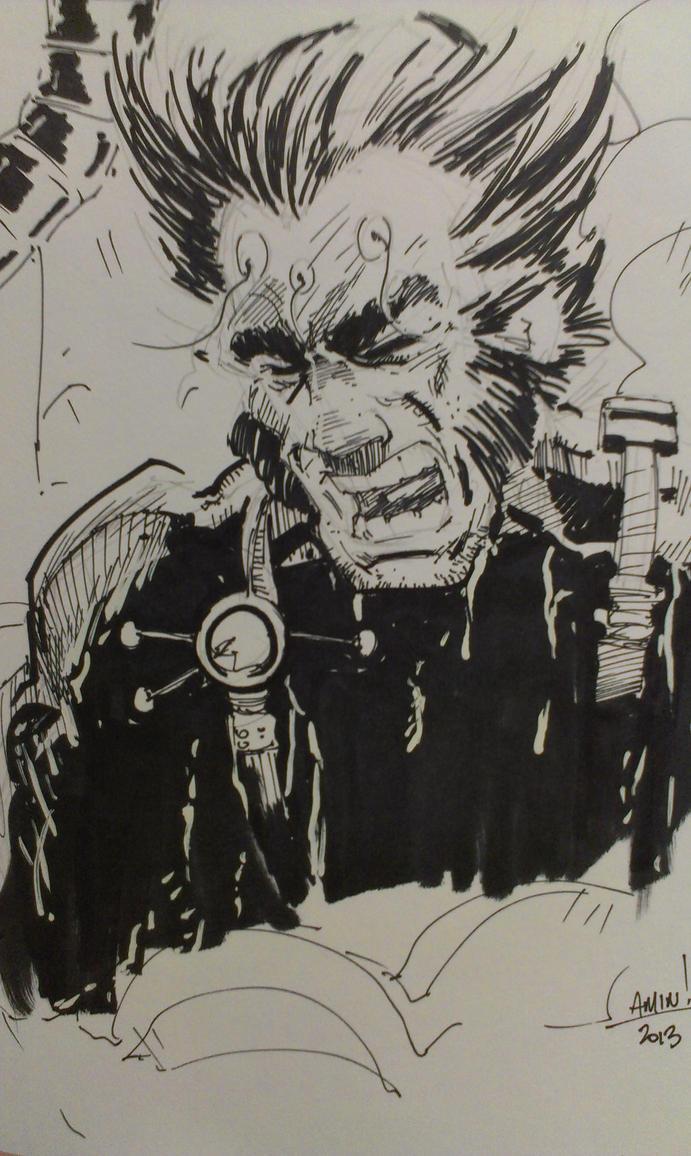 FCBD Sketch: Wolverine! (Weapon X) by aminamat