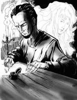 Odd Handed Writer by aminamat