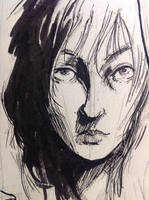 Ink Portrait by aminamat